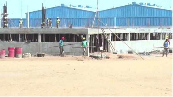 Visite de chantier de l' AIBD