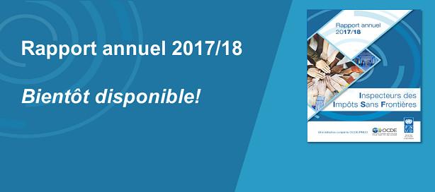 Initiative Inspecteurs des impôts sans frontières : le rapport annuel 2017/18  disponible mardi 4 octobre