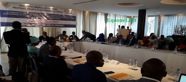 Cérémonie d'ouverture de la 4ième revue annuelle des réformes, politiques, programmes et projets de l'Uemoa, à Dakar.
