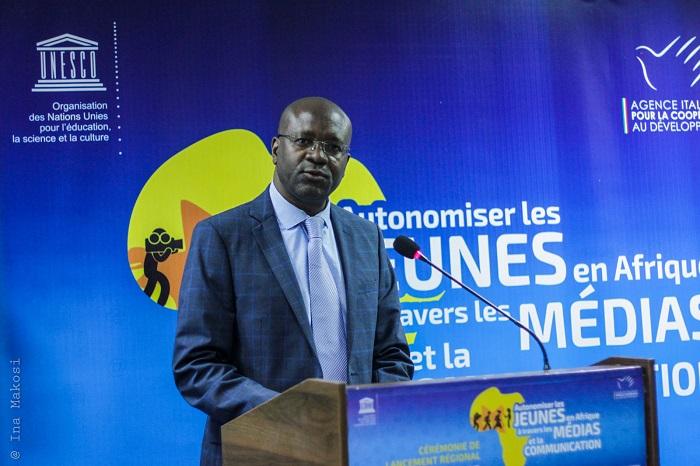 Dimitri Sanga, directeur du bureau régional de l'Unesco pour l'Afrique de l'ouest (Sahel).