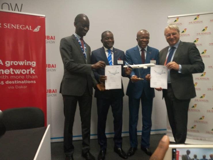 Signature des termes principaux relatifs à l'acquisition de 8 Airbus pour Air Sénégal SA.