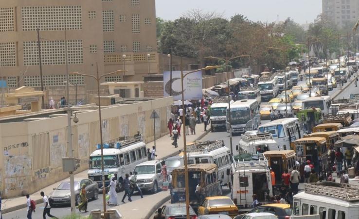 Embouteillage à Dakar.