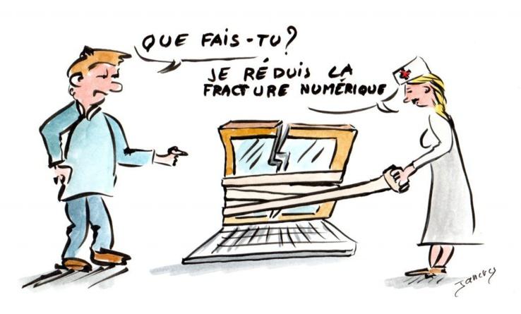 Fracture numérique.