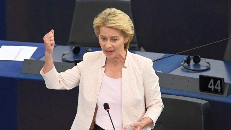 La présidente Commission européenne von der Leyen.
