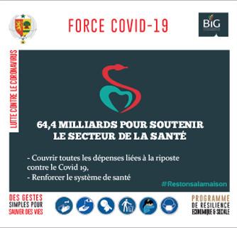 force covid-19-sénégal : 64,4 milliards pour soutenir le secteur de la santé