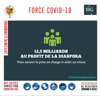 force covid-19-sénégal : 12,5 milliards au profit de la diaspora