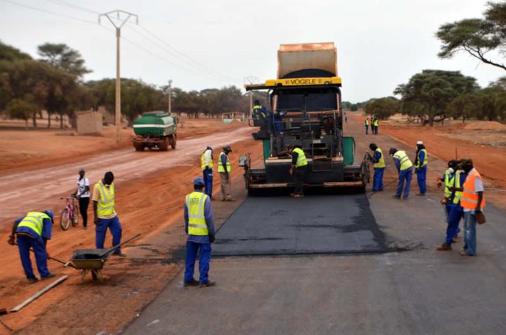 Travaux routiers Sénégal