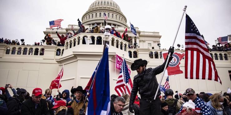 Scènes chaotiques au Capitole américain