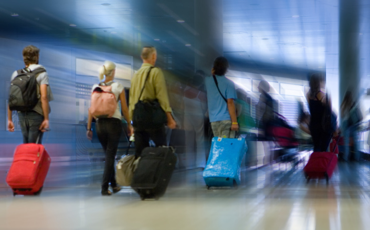 Baisse du trafic international de passagers en 2020.