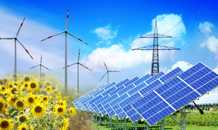 Forte croissance des énergies renouvelables.