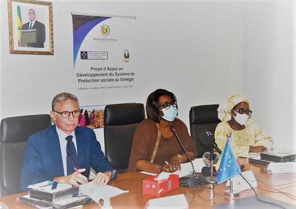 Cérémonie de lancement du projet d'appui au développement du système de protection sociale au Sénégal.