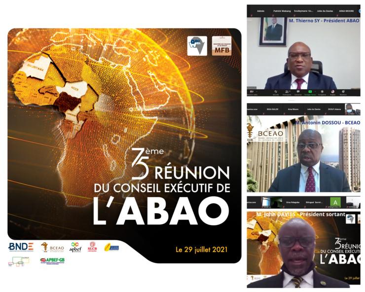 En haut, à droite, Thierno seydou Nourou Sy, nouveau président de l'ABAO.