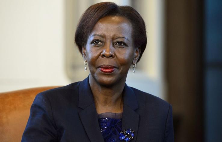 La secrétaire général de la Francophonie, Louise Mushikiwabo.