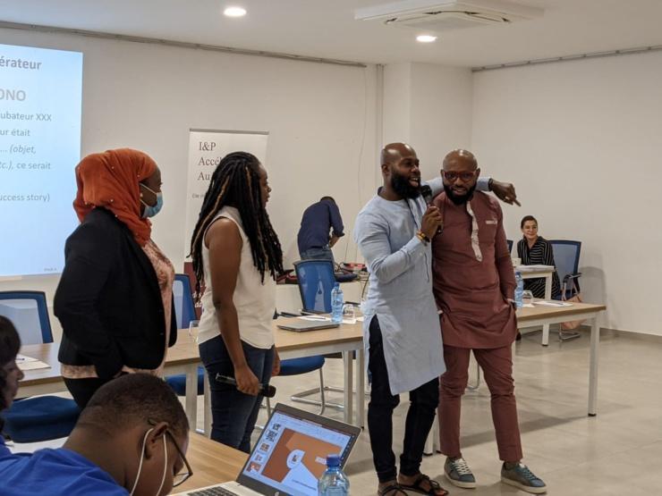 Les jeunes entrepreneurs en formation investment readiness.