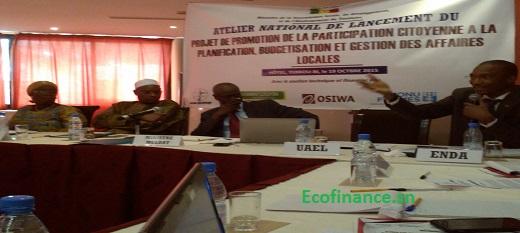 Lancement du projet budget participatif au Sénégal.