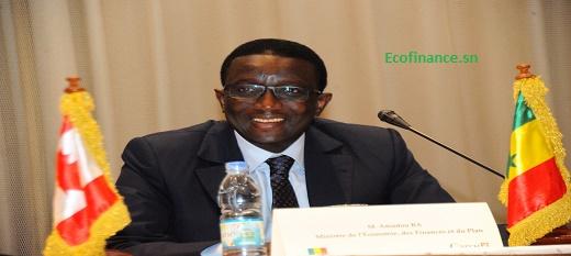 Amadou Bâ, ministre sénégalais de l'Economie, des Finances et du Plan.