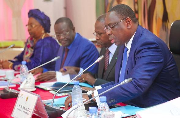 Le Président Macky Sall a réuni le conseil des ministres, mercredi 8 février 2017.