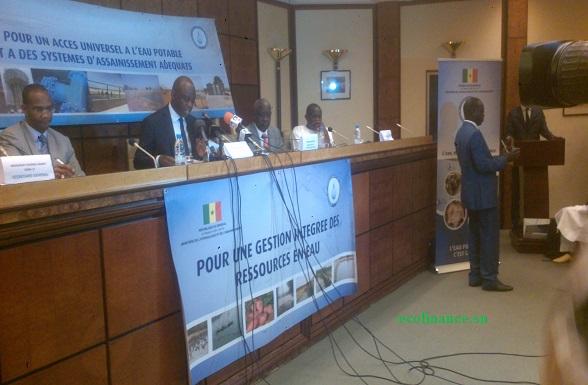 Le ministre de l'Hydraulique et de la 'Assainissement lors de la présentation de son bilan 2016.