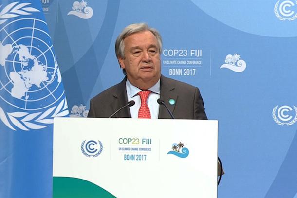 BONN : le chef de l'ONU appelle à davantage d'ambition, de leadership et de partenariats sur le climat