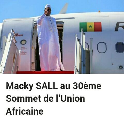 Macky SALL au 30ème Sommet de l'Union Africaine