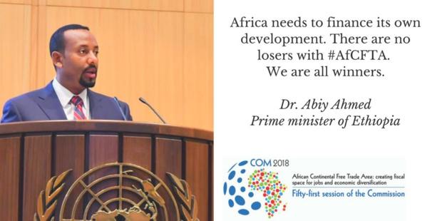 Economie : Le Premier Ministre éthiopien vante les bienfaits de la zone libre-échange continentale