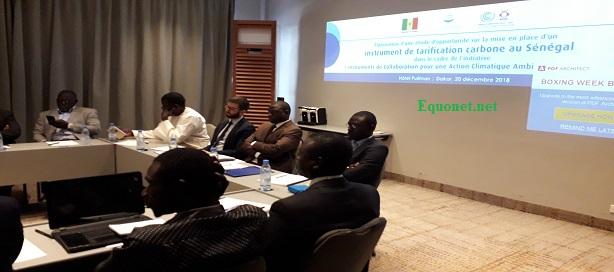 Atelier de validation de l'étude d'opportunité sur les instruments de tarification carbone au Sénégal.