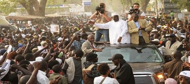 Macky Sall en campagne avec ses alliés.