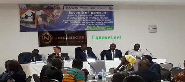 Atelier de réflexion sur la pérennisation de l'utilisation des services d'information climatique et météorologique au Sénégal