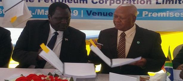 L'Afrique du Sud signe  un accord de partage d'exploration et de production (EPSA) avec le Soudan du Sud.