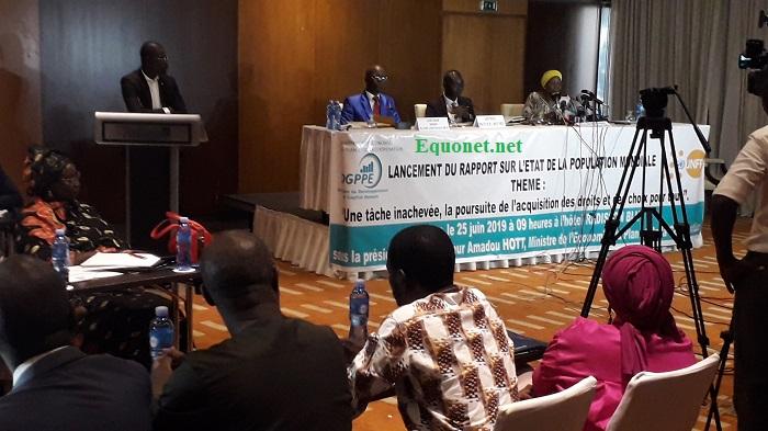 Lancement du rapport sur l'état de la population mondiale, au Sénégal.