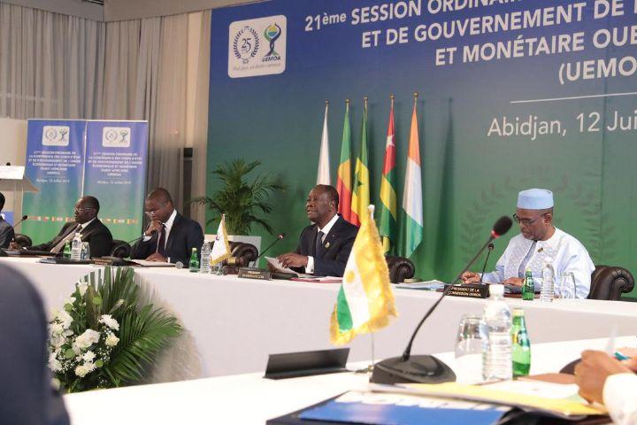 Conférence des chefs d'Etat de l'Uemoa à Abidjan.