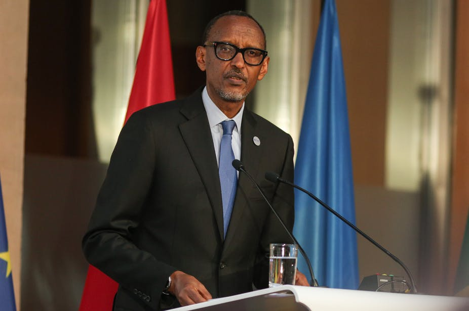 Paul Kagamén président République du Rwanda.