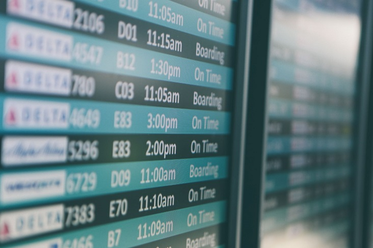 Vols perturbés dans les aéroports et les compagnies.