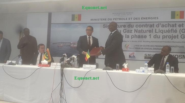 Signature contrat de vente et d'achat du gaz entre le Sénégal et la Mauritanie.