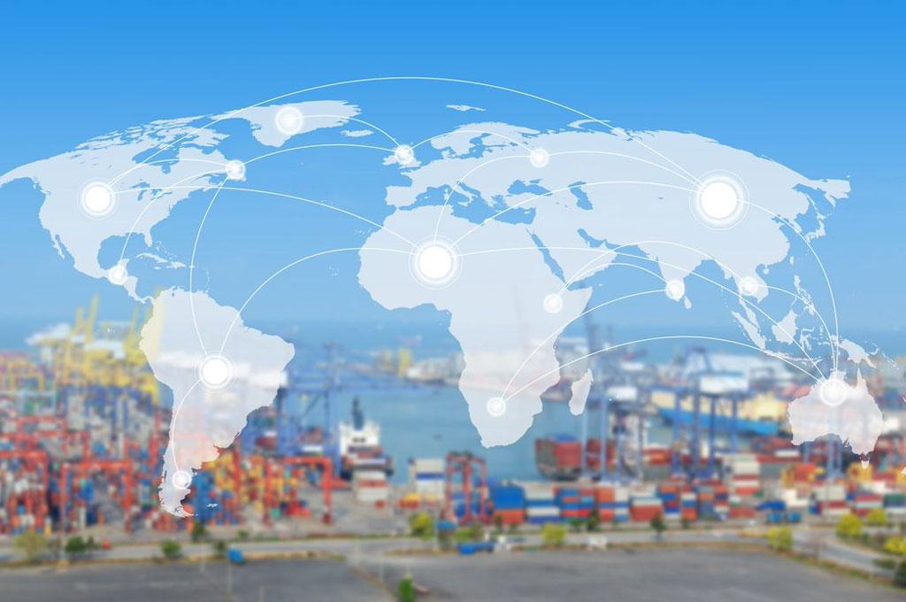 Commerce international entre économies développées et en voie de développement.