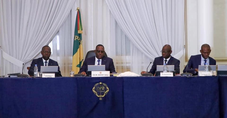 Conseil des ministres Sénégal.