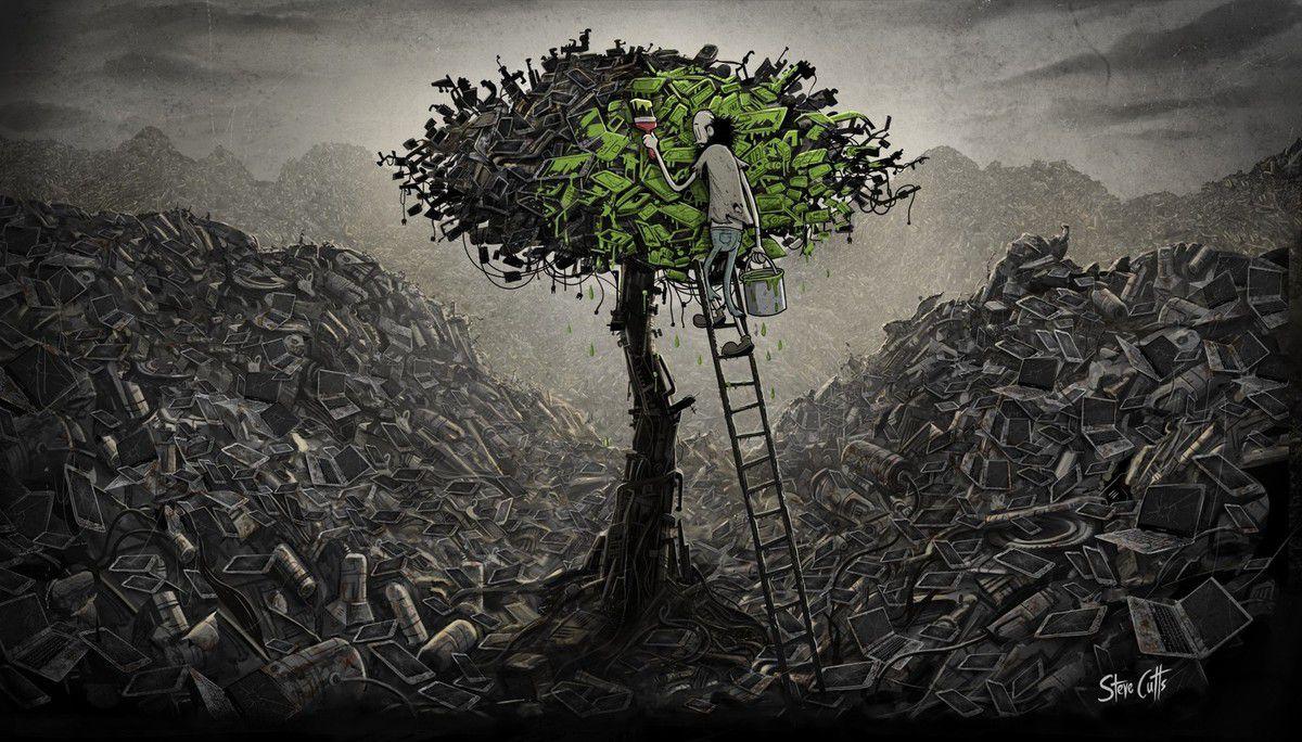 Défense de l'environnement  et de la terre.
