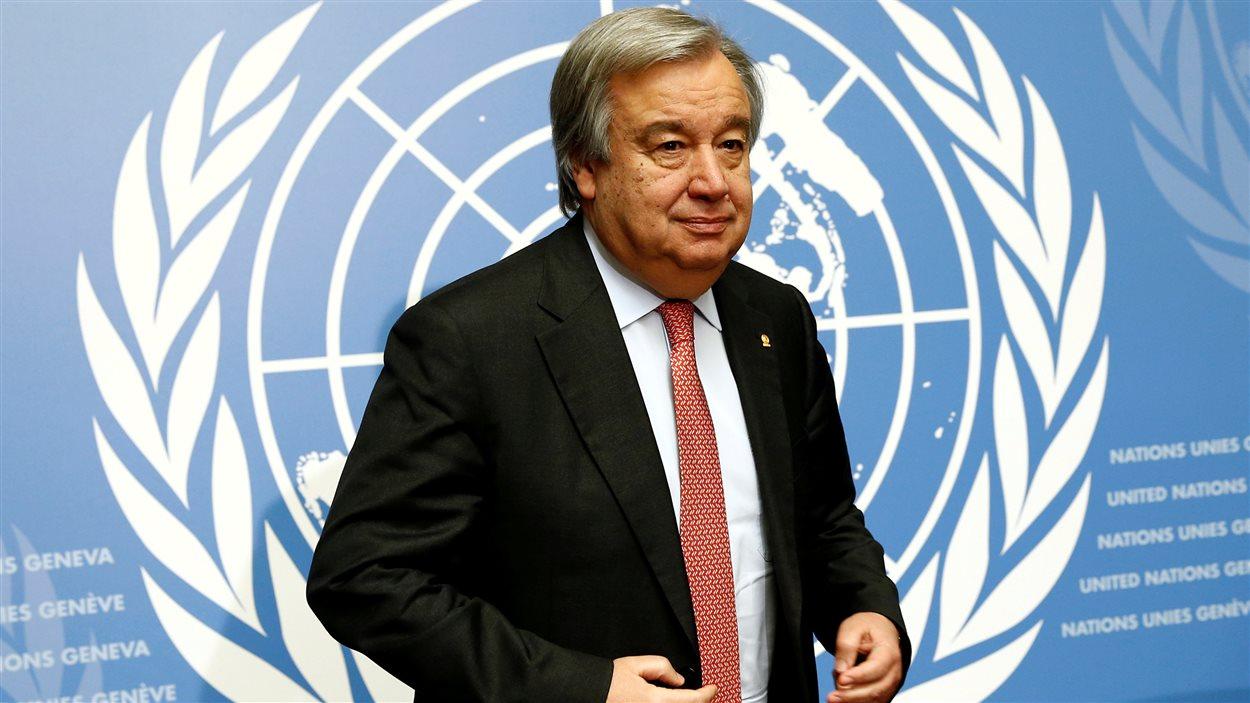 Le Secrétaire général des Nations unies, Antonio Guterres.