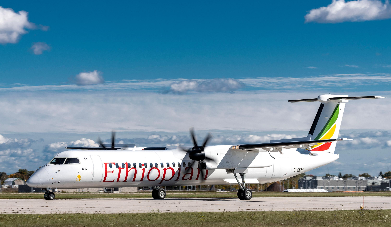 Ethiopian Airlines renforce sa flotte avec l'acquisition de deux autres appareils Dash 8-400 livré par De Havilland