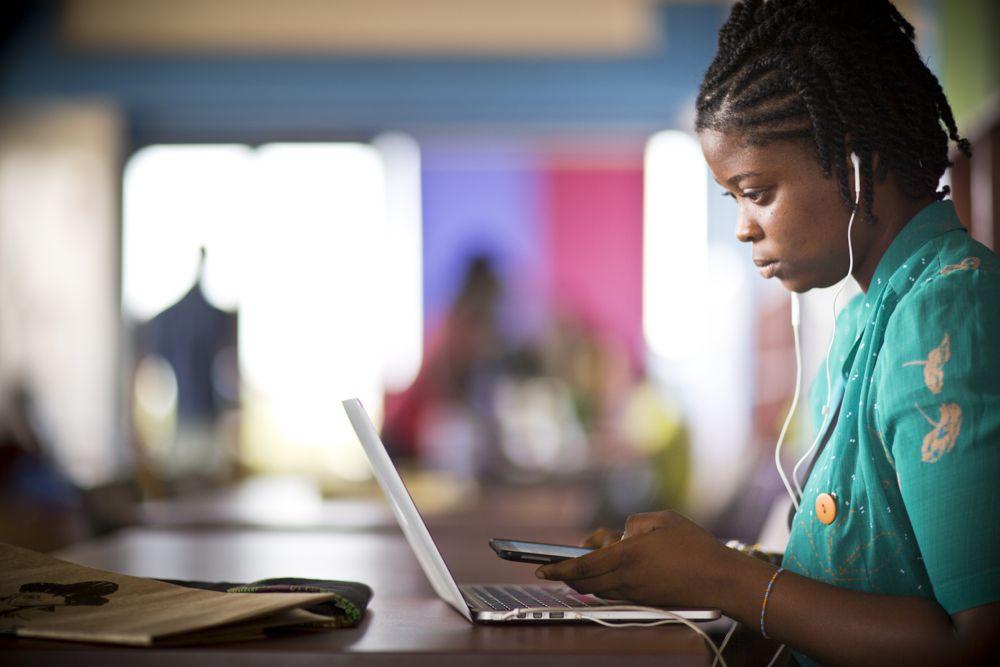 Enseignement en ligne au Sénégal.