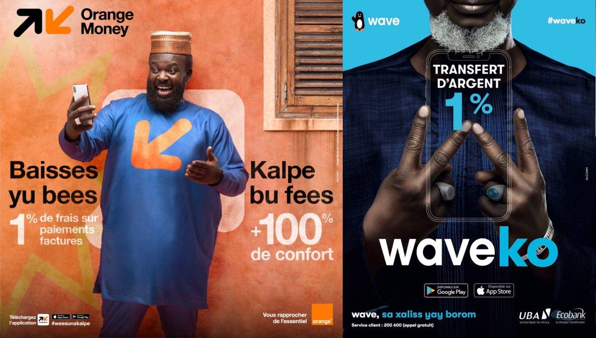 Wave et Orange money