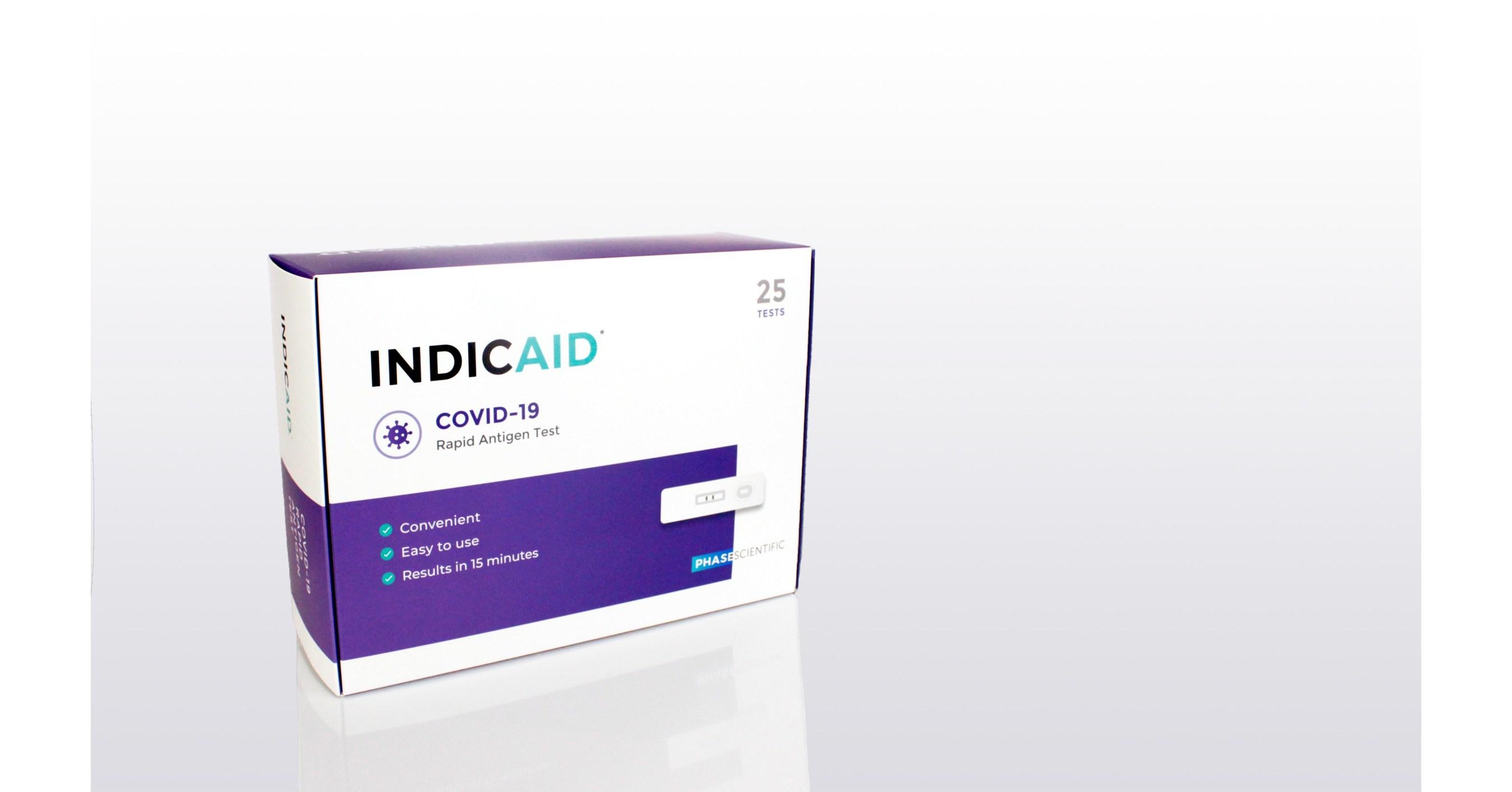 Test rapide antigénique de dépistage de la COVID-19 INDICAID™