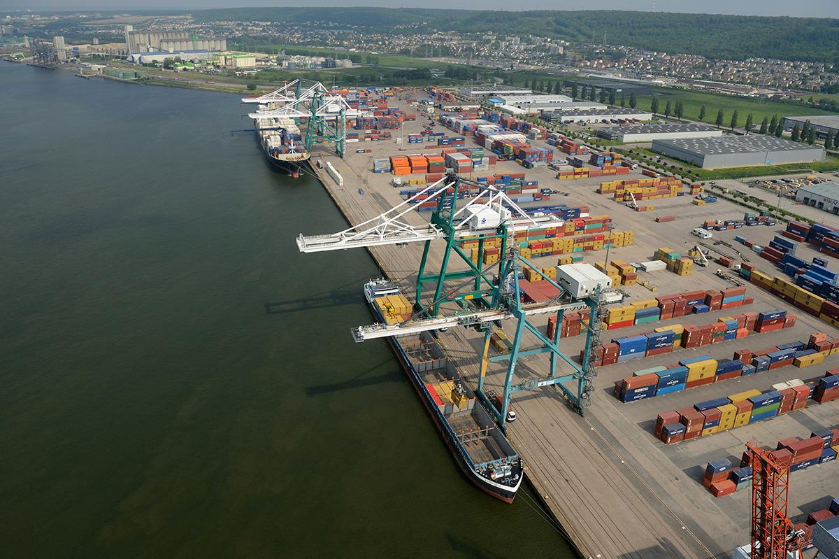 Port de Rouen, France.