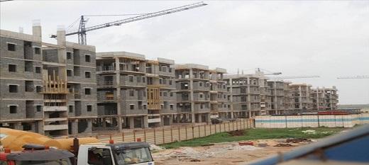 Le parc industriel de Diamniadio en cours de construction.