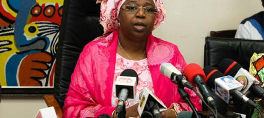 Marie Awa Colle Seck, ministre sénégalais en charge de la Protection sociale.
