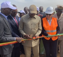 Cérémonie d'inauguration des nouveaux réservoirs de Thiès du Projet Eau et Assainissement en Milieu Urbain (PEAMU)