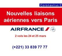 Covid-19 : ouverture de nouvelles liaisons aériennes vers Paris