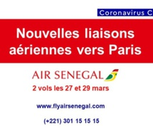 Covid-19 : Air Sénégal ouvre de nouvelles lignes aériennes vers Paris