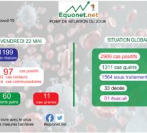 pandémie du coronavirus-covid-19 au sénégal : point de situation du vendredi 22 mai 2020