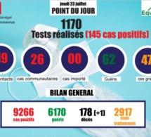 pandémie du coronavirus-covid-19 au sénégal : point de situation du jeudi 23 juillet 2020